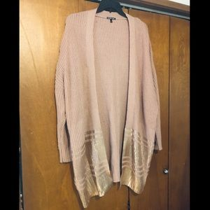 Charlotte Russe pink knit open front cardigan